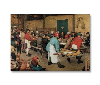 Cartel, 50x70, Bruegel, boda de los agricultores