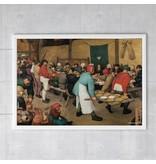 Poster, 50x70, Bruegel, Boerenbruiloft