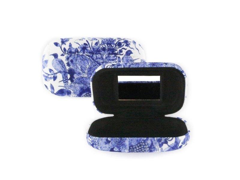 Lápiz labial /Lápiz labial /lente /caja de viaje,  Delft pájaros azules