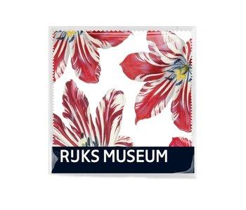Brillenputztuch , 15x15, Marrel, Tulpen, Rijksmuseum