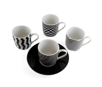 Espresso set Optical, Set of 4