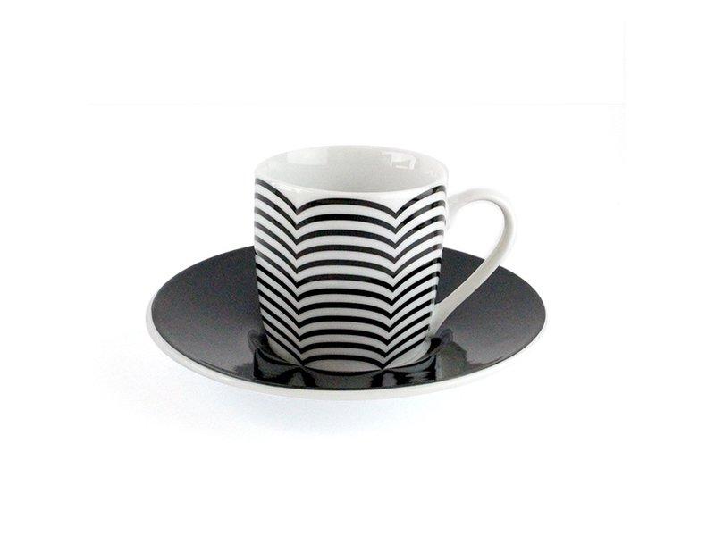 Espresso set Optical, Set of 4