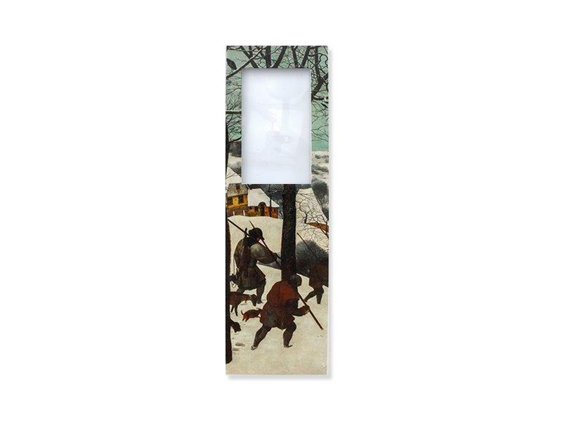 Marque-page avec loupe, Bruegel, Chasseurs dans la neige