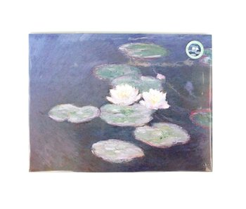 Poster A3, Monet, Waterlilies in evening light