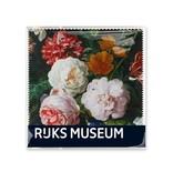 Lens cloths W, 15x15, De Heem, Vase with Flowers, (rijksmuseum)