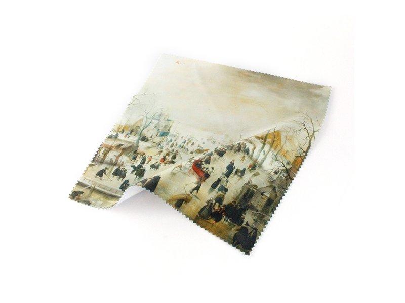 Brillendoekje, 15x15,  Winterlandschap, Avercamp