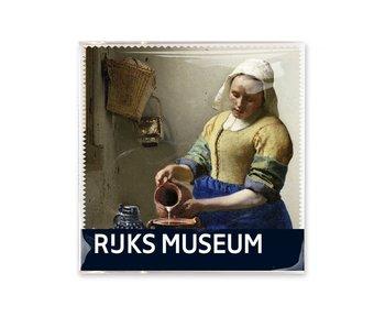 Linsentuch, 15x15, Die Milchmagd, Vermeer