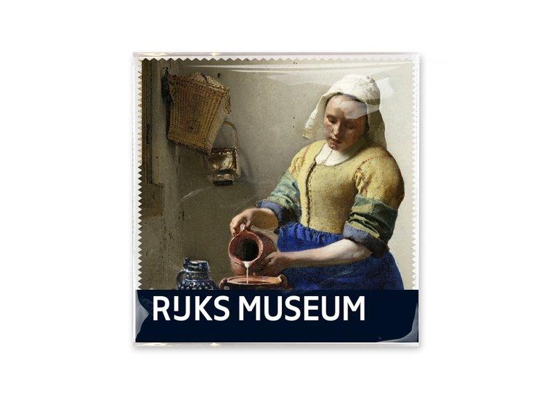 Brillendoekje, 15x15, Het Melkmeisje, Vermeer