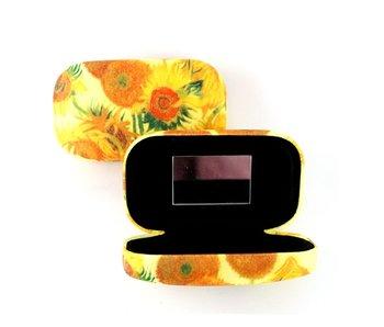 Lipstick-lens-reis doosje, Zonnebloemen, Van Gogh