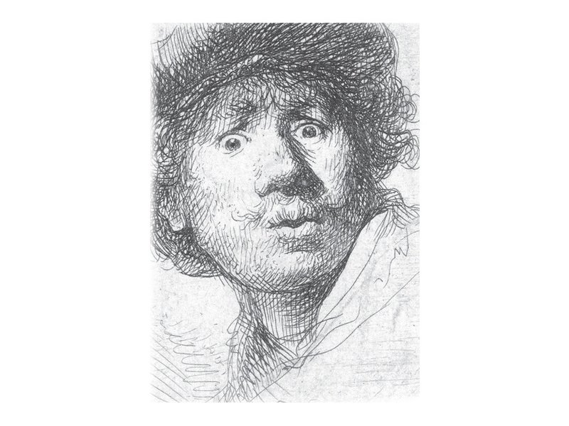 Exercise book W, A5, Rembrandt, Curious Face