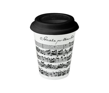 Mugs , Coffee-to-go, Vivaldi, Libretto white -Trav.