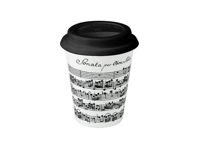Tassen, Kaffee zum Mitnehmen, Vivaldi, Libretto weiß -Trav.