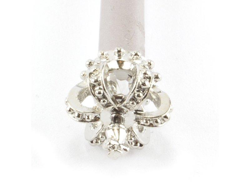 Silberstift mit silberner Königskrone