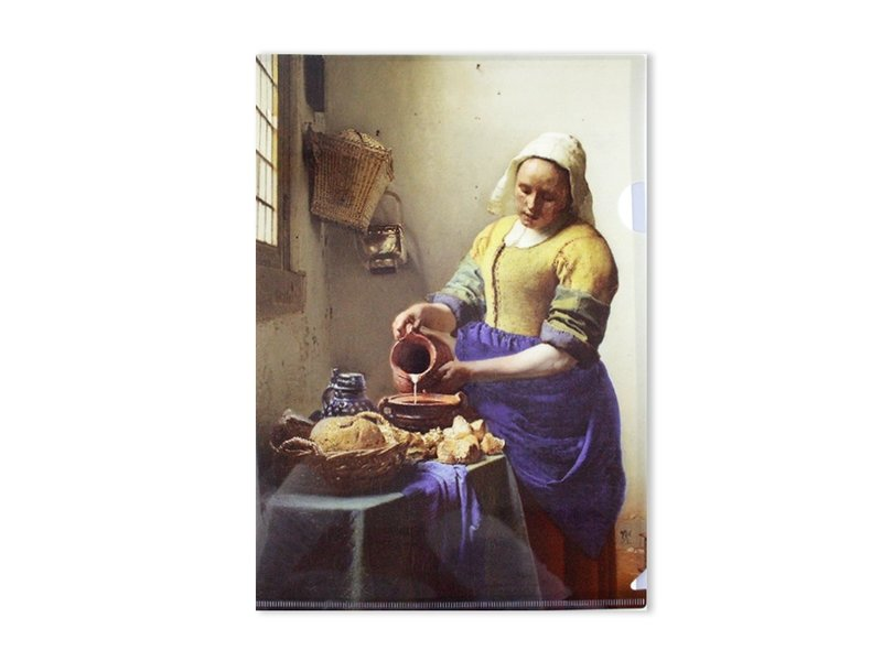 File Sheet, W, Vermeer, The Milkmaid