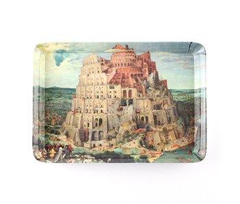 Serviertablett, Mini 21 x 14 cm, Bruegel, Turm zu Babel
