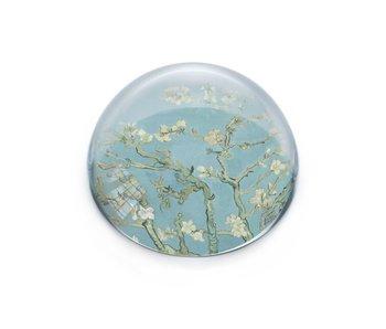 Presse-papiers convexe en verre, Van Gogh,  Fleur d'amandier