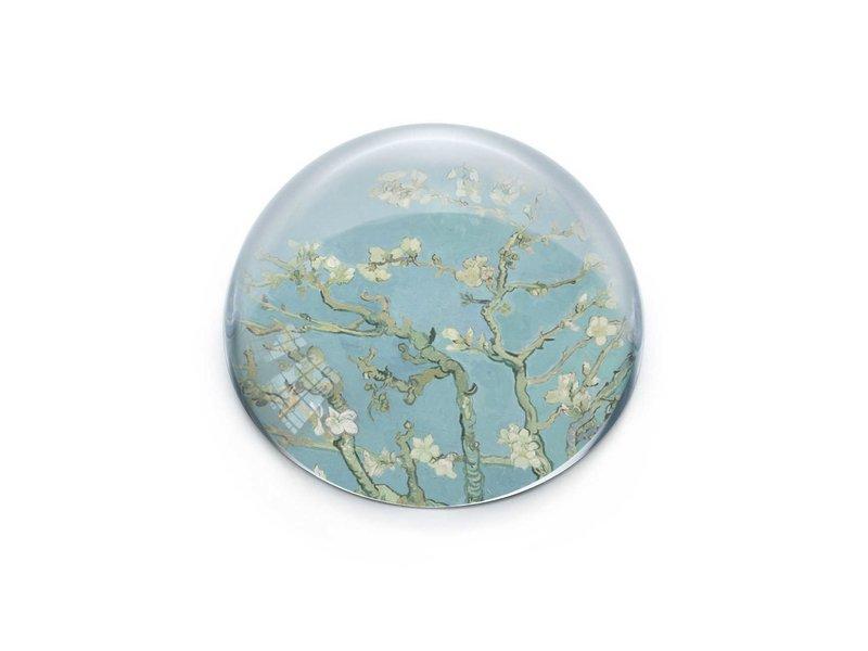 Pisapapeles de vidrio convexo, Van Gogh, Flor de almendro