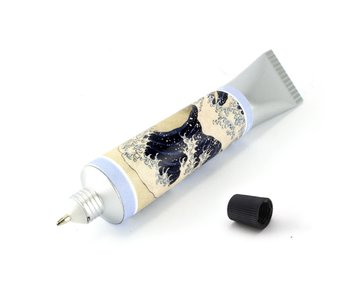 Paint tube Pen, Hokusai, The great wave