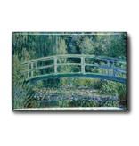 Imán de nevera, puente, Monet