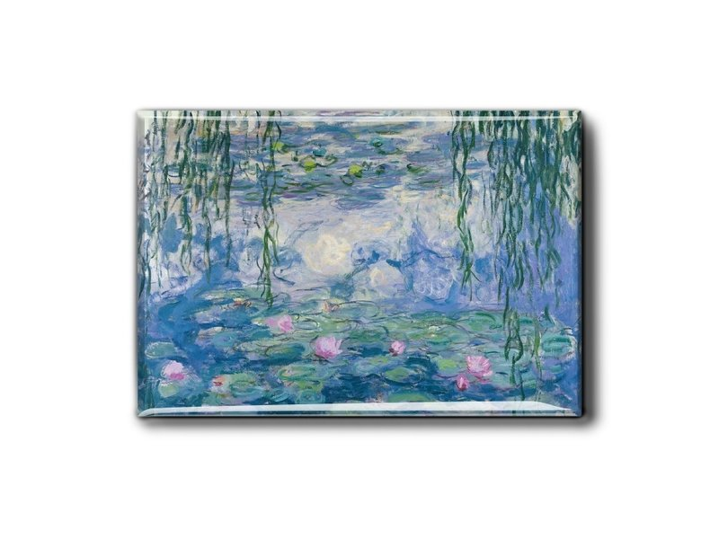 Koelkastmagneet, waterlelies, Monet