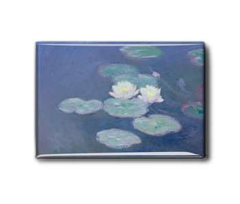 Imán de nevera, lirios de agua por la noche, Monet