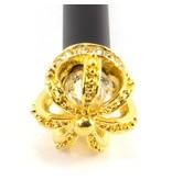 Schwarzer Kugelschreiber mit goldener Krone