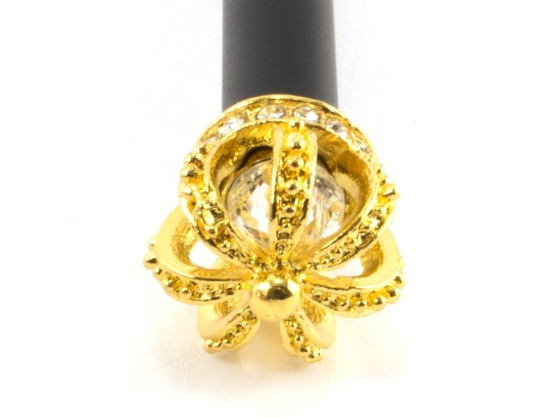 Black Ballpen with gold crown