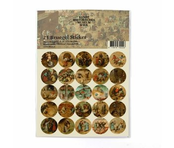 Stickers set, Bruegel, Childsplaying