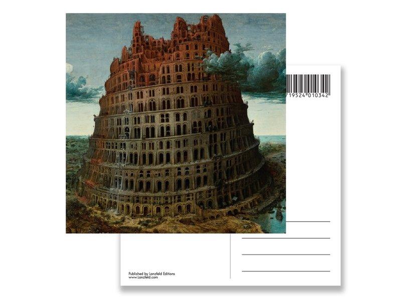 Carte postale, Bruegel, tour de Babel