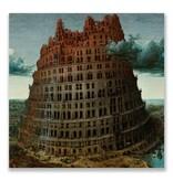 Postkarte, Bruegel, Turm von Babel