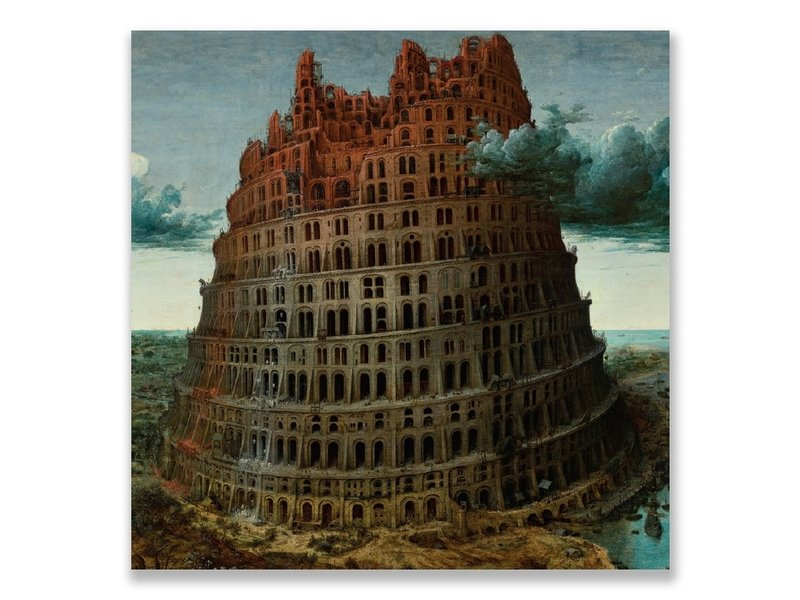 Postal, Bruegel, Torre de Babel