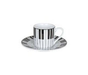 Espresso kop en schotel, Piano