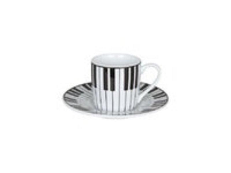 Taza espresso y platillo, piano