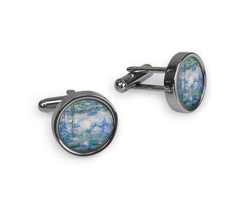 Cufflinks, Monet, Water Lilies