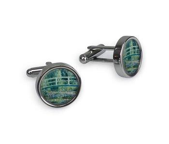 Cufflinks, Monet, Japanese bridge