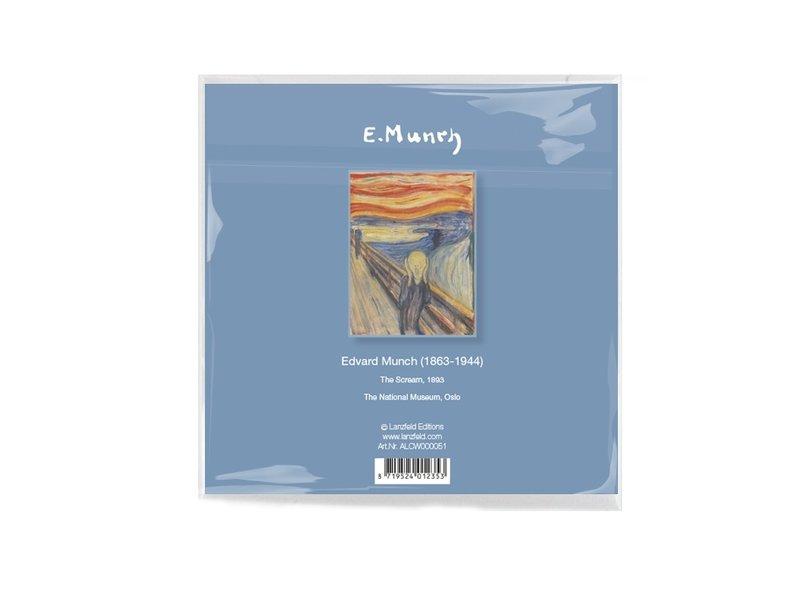 Brillendoekje, Munch, De Schreeuw, 15x15