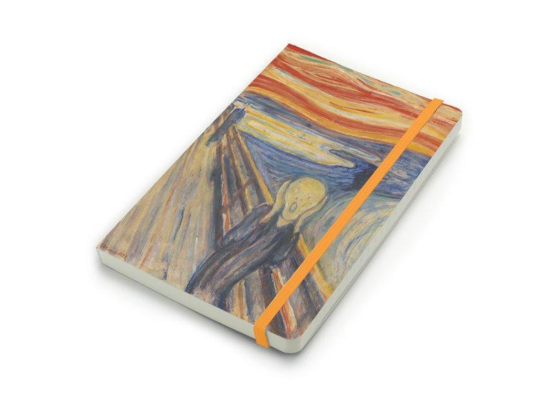 Softcover notitieboekje,  A5 W, Munch, De Schreeuw