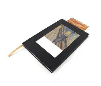 Ansichtkaart schetsboek, Munch, De schreeuw