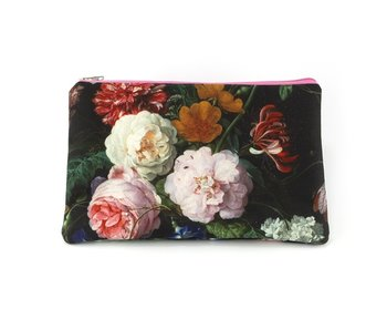 Pouch,  De Heem, Vase with Flowers