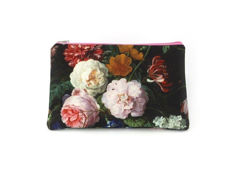 Toilettasje,  De Heem, Vaas met bloemen, Rijksmuseum