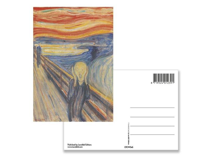 Ansichtkaart, Munch, de schreeuw