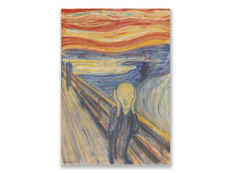 Cartes postales ART, Munch, Le cri
