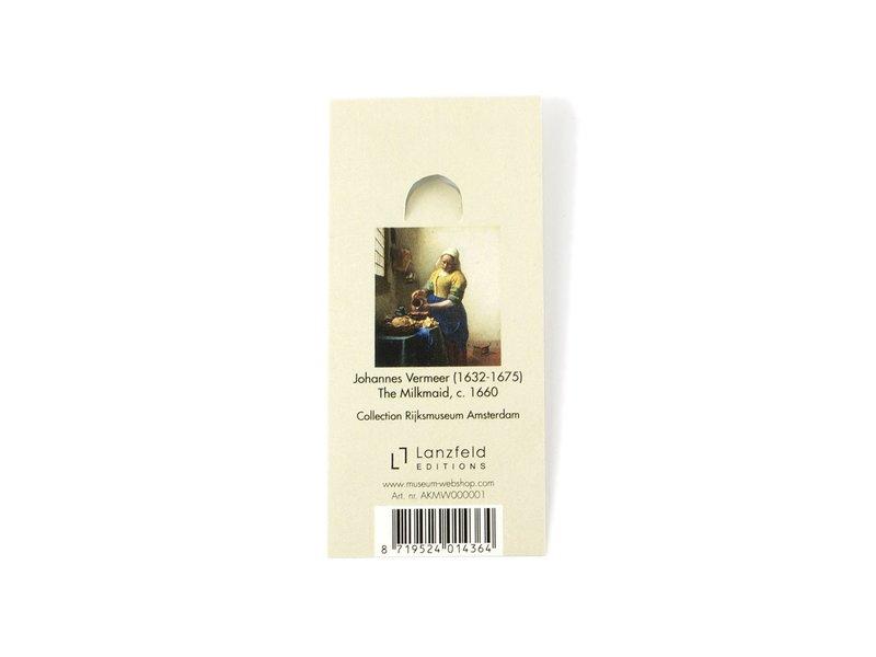 Llavero SQ, metal plateado, Lechera Vermeer