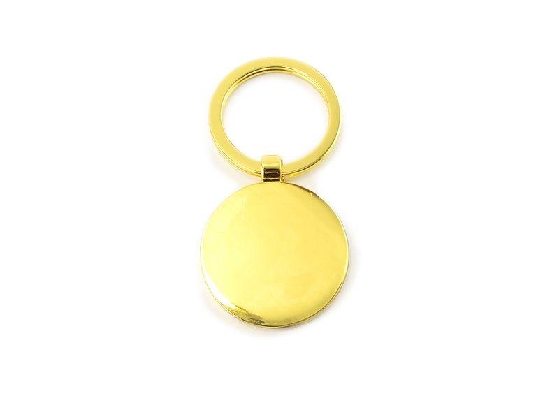 Keyring W, Metal gold, RD, Milkmaid Vermeer