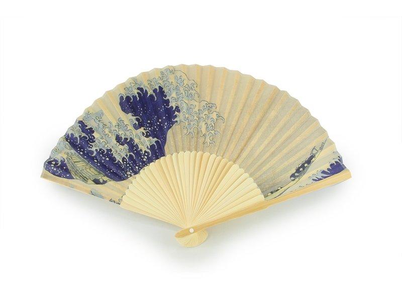 Éventail, La grande vague d'Hokusai