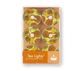 Luces de té,, Girasoles Van Gogh