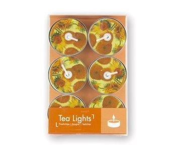 Tea light, Van Gogh Sunflowers