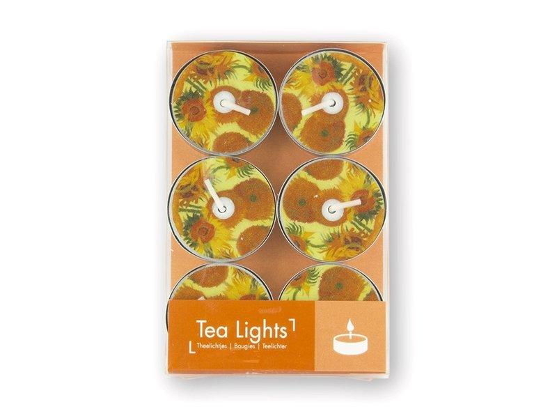 Teelicht, Van Gogh Sonnenblumen