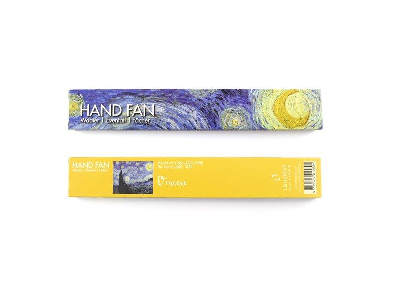 hand waaier, Van Gogh, Sterrennacht