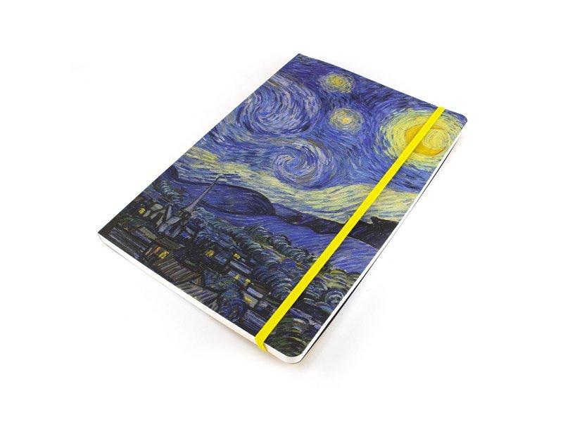 Cuaderno de tapa blanda, A5, Van Gogh, Noche estrellada